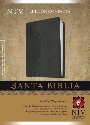 Biblia compacta. 2 tonos. Negro/ónice - NTV