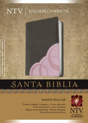 Biblia compacta. 2 tonos. Rosa/marrón - NTV