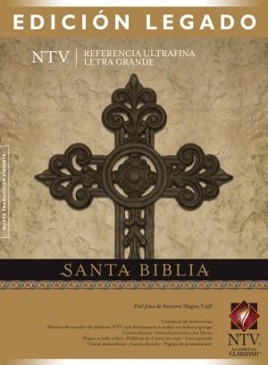 Biblia edición legado. Letra grande. Ultrafina. Piel legítima. Marrón/negro - NTV