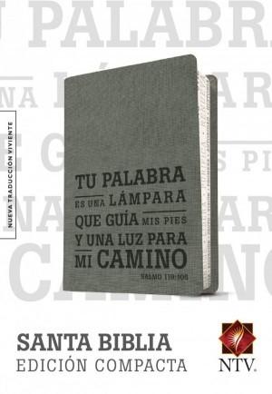 Biblia edición compacta. Salmo 119:105. 2 tonos. Gris - NTV