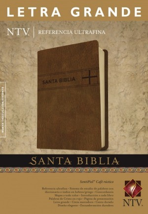 Biblia edición de referencia. Ultrafina. Letra grande. 2 tonos. Marrón - NTV