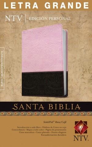 Biblia edición personal. Letra grande. 2 tonos.  Rosa/marrón - NTV
