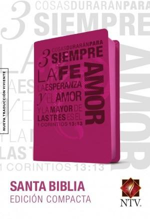 Biblia edición compacta. 1 Corintios 13. 2 tonos. Rosa - NTV