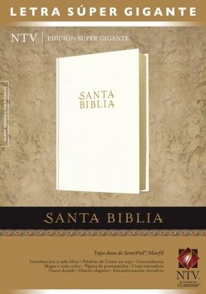 Biblia edición súper gigante. Letra súper gigante. Imitación piel. Blanco - NTV