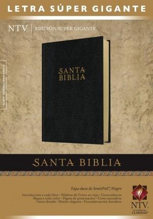 Biblia edición súper gigante. Letra súper gigante. Imitación piel. Negro - NTV
