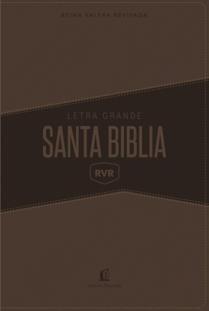 Biblia grande. Letra gigante. 2 tonos. Marrón - RVR77