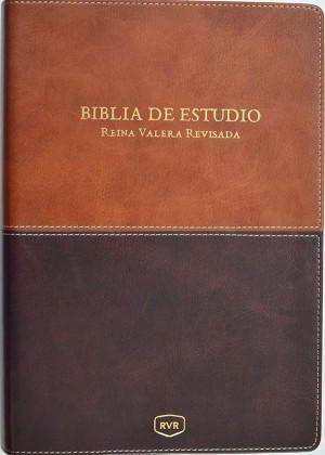 Biblia de estudio RVR. 2 tonos. Marrón - RVR77