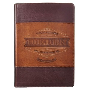 Diario Filipenses 4:13. 2 tonos. Marrón