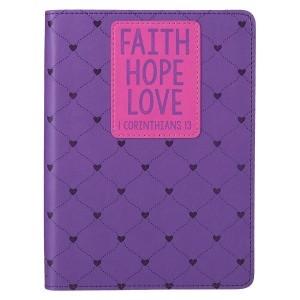 Diario 1 Corintios 13. 2 tonos. Violeta y rosa