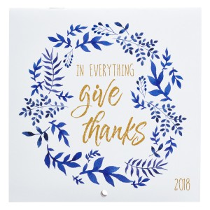 Calendario 2018 In everything give thanks
