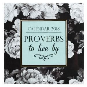 Calendario 2018 Proverbs to live by