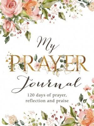 Diario My prayer journal. Rústica. Blanco floral (inglés)