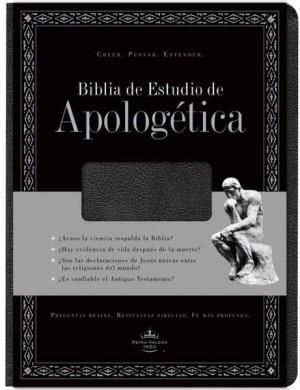 Biblia de estudio apologética. Imitación piel. Negro. Índice - RVR60