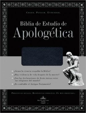 Biblia de estudio apologética. Piel especial. Negro - RVR60