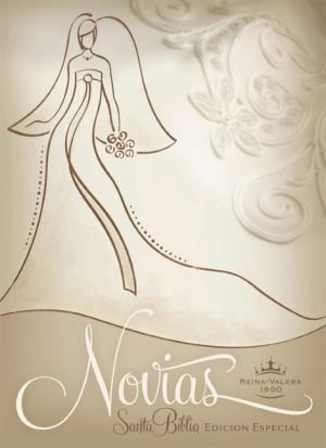 RVR 1960 Biblia Recuerdo de Boda para Novias, blanco/champán imitación piel