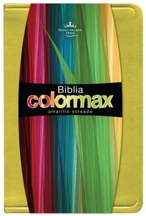 RVR 1960 Biblia Colormax, amarillo soleado imitación piel