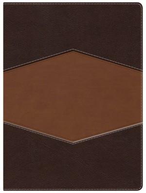 Biblia de estudio Holman. 2 tonos. Marrón/terracota - RVR60