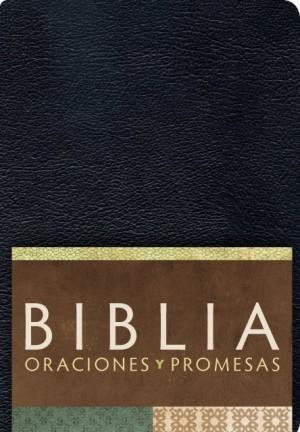 RVC Biblia Oraciones y Promesas - Negro imitación piel