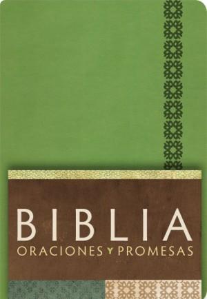 RVC Biblia Oraciones y Promesas - Verde Manzana símil piel con índice