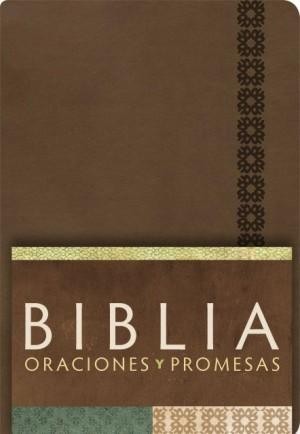 RVC Biblia Oraciones y Promesas - Canela símil piel con índice