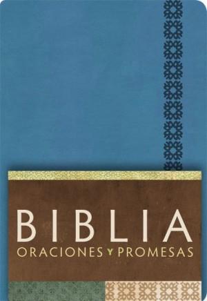 RVC Biblia Oraciones y Promesas - Azul Cobalto símil piel con índice