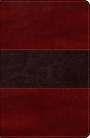 RVR 1960 Biblia del Pescador, caoba símil piel de lujo con índice