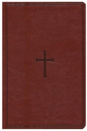 Biblia grande. Letra gigante. 2 tonos. Marrón - KJV (inglés)