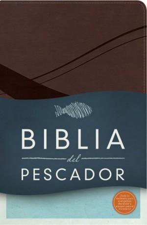 RVR 1960 Biblia del Pescador, chocolate símil piel