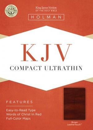 Biblia compacta. Ultrafina. 2 tonos. Marrón - KJV (inglés)