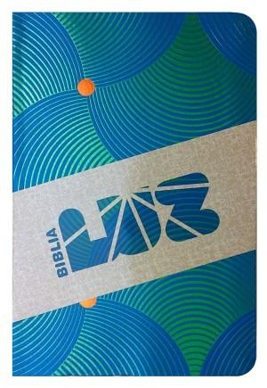 RVC Biblia Luz, remolinos de azul/verde símil piel