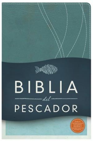 RVR 1960 Biblia del Pescador, azul petróleo símil piel