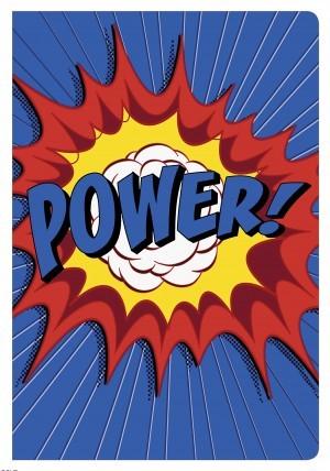 Biblia de estudio para niños Power. Letra grande. 2 tonos. Azul - NKJV (inglés)