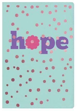 Biblia de estudio para niñas Hope. Letra grande. 2 tonos. Azul/rosa - NKJV (inglés)