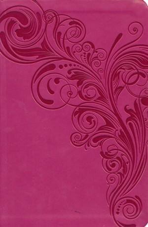Biblia compacta. Ultrafina. 2 tonos. Rosa. Índice - KJV (inglés)