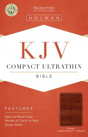 Biblia compacta. Ultrafina. 2 tonos. Marrón. Índice - KJV (inglés)
