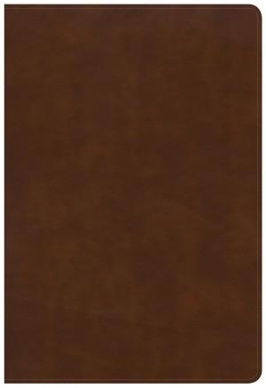 Biblia grande. Letra gigante. Ultrafina. Imitación piel. Marrón británico. Índice - KJV (inglés)