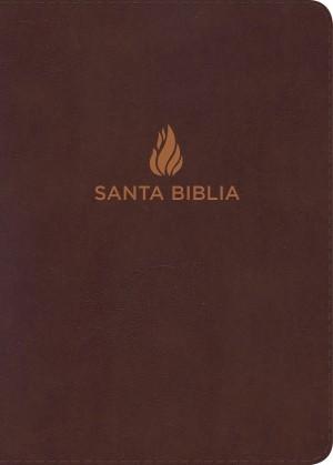Biblia compacta. Letra grande. Piel especial. Marrón. Índice - RVR60