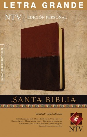 Biblia edición personal. Letra grande. 2 tonos. Marrón. Índice - NTV
