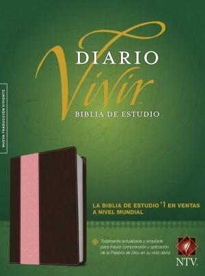 Biblia de estudio del diario vivir. 2 tonos. Rosa/marrón - NTV