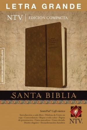 Biblia compacta. Letra grande. 2 tonos. Marrón - NTV