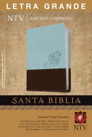 Biblia compacta. Letra grande. 2 tonos. Azul/marrón - NTV