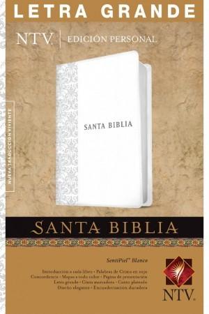 Biblia edición personal. Letra grande. 2 tonos. Blanco. Índice - NTV