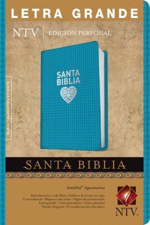 Biblia edición personal. Letra grande. 2 tonos. Azul turquesa. Índice - NTV