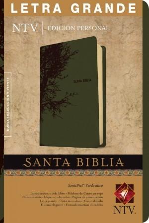 Biblia edición personal. Letra grande. 2 tonos. Verde oliva. Índice - NTV