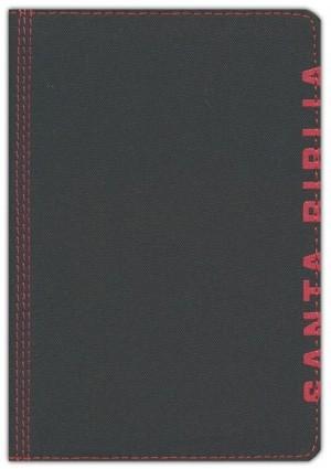 Biblia compacta. 2 tonos. Negro/rojo. Cremallera - NTV