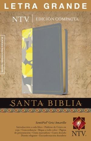 Biblia compacta. Letra grande. 2 tonos. Gris/amarillo - NTV