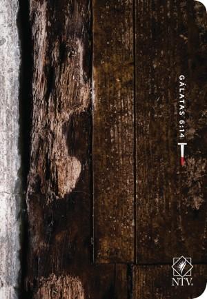 Biblia compacta. Letra grande. 2 tonos. Madera - NTV