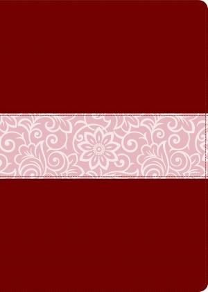 Biblia del diario vivir. Grande. Letra grande. 2 tonos. Rojizo/rosa. Índice - NTV
