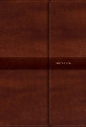 Biblia súper grande. Letra súper gigante. 2 tonos. Marrón. Broche - RVR60