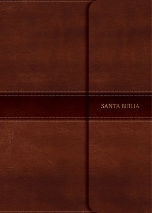 Biblia súper grande. Letra súper gigante. 2 tonos. Marrón. Broche. Ïndice - NVI